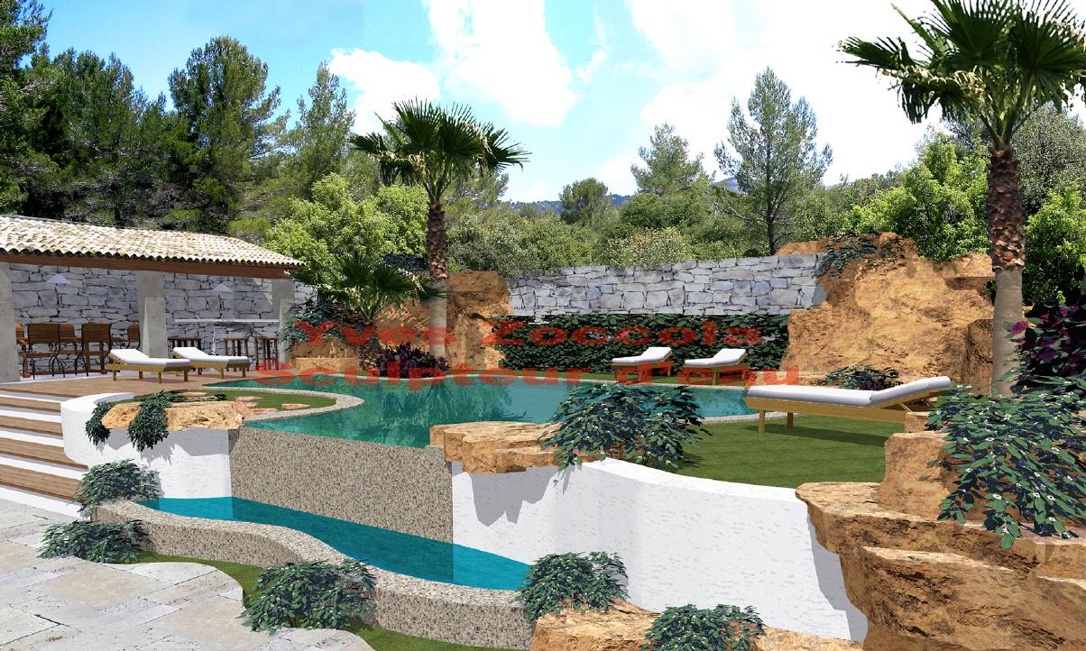 Yves zoccola concepteur de piscine for Piscine design pierre